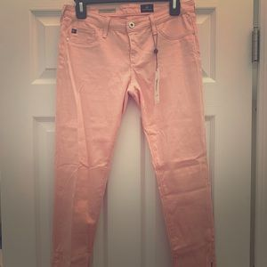"Pink AG ""The Zip Up Legging Ankle"""
